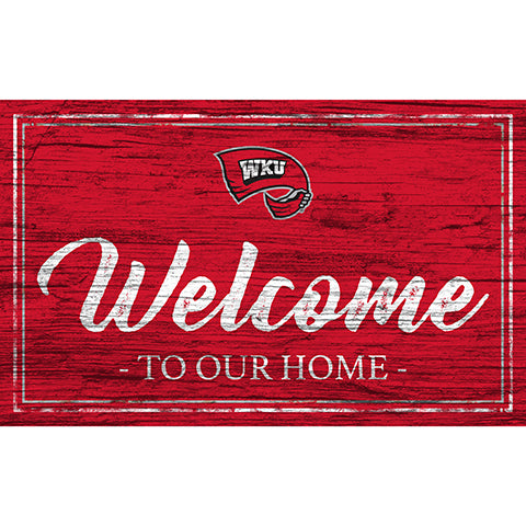 Western Kentucky Team Color Welcome 11x19 Sign