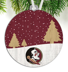 Florida State Snow Scene Ornament