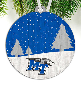 Middle Tennessee State Snow Scene Ornament