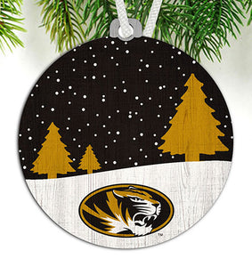 University of Missouri Snow Scene Ornament