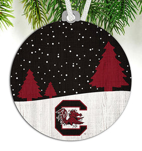 University of South Carolina Snow Scene Ornament