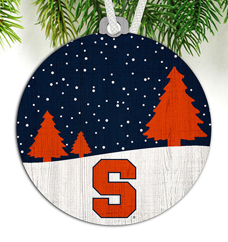 Syracuse Snow Scene Ornament