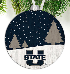 Utah State Snow Scene Ornament