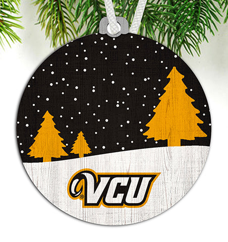 VCU Snow Scene Ornament