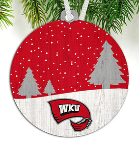 Western Kentucky Snow Scene Ornament