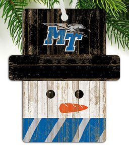 Middle Tennessee State Snowman Ornament