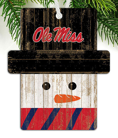 Ole Miss Snowman Ornament