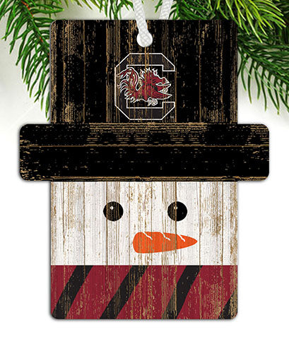 University of South Carolina Snowman Ornament