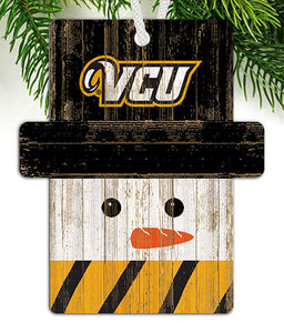 VCU Snowman Ornament