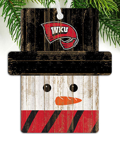Western Kentucky Snowman Ornament