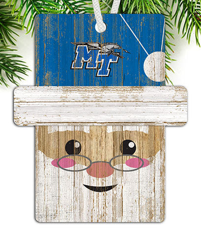 Middle Tennessee State Santa Ornament