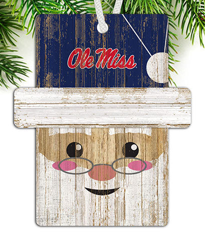 Ole Miss Santa Ornament