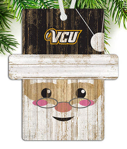 VCU Santa Ornament