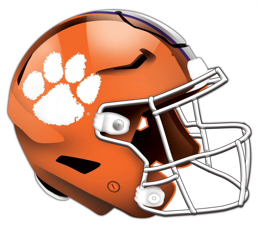 Clemson University Authentic Helmet Cutout 24