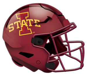 Iowa State Authentic Helmet Cutout 24""