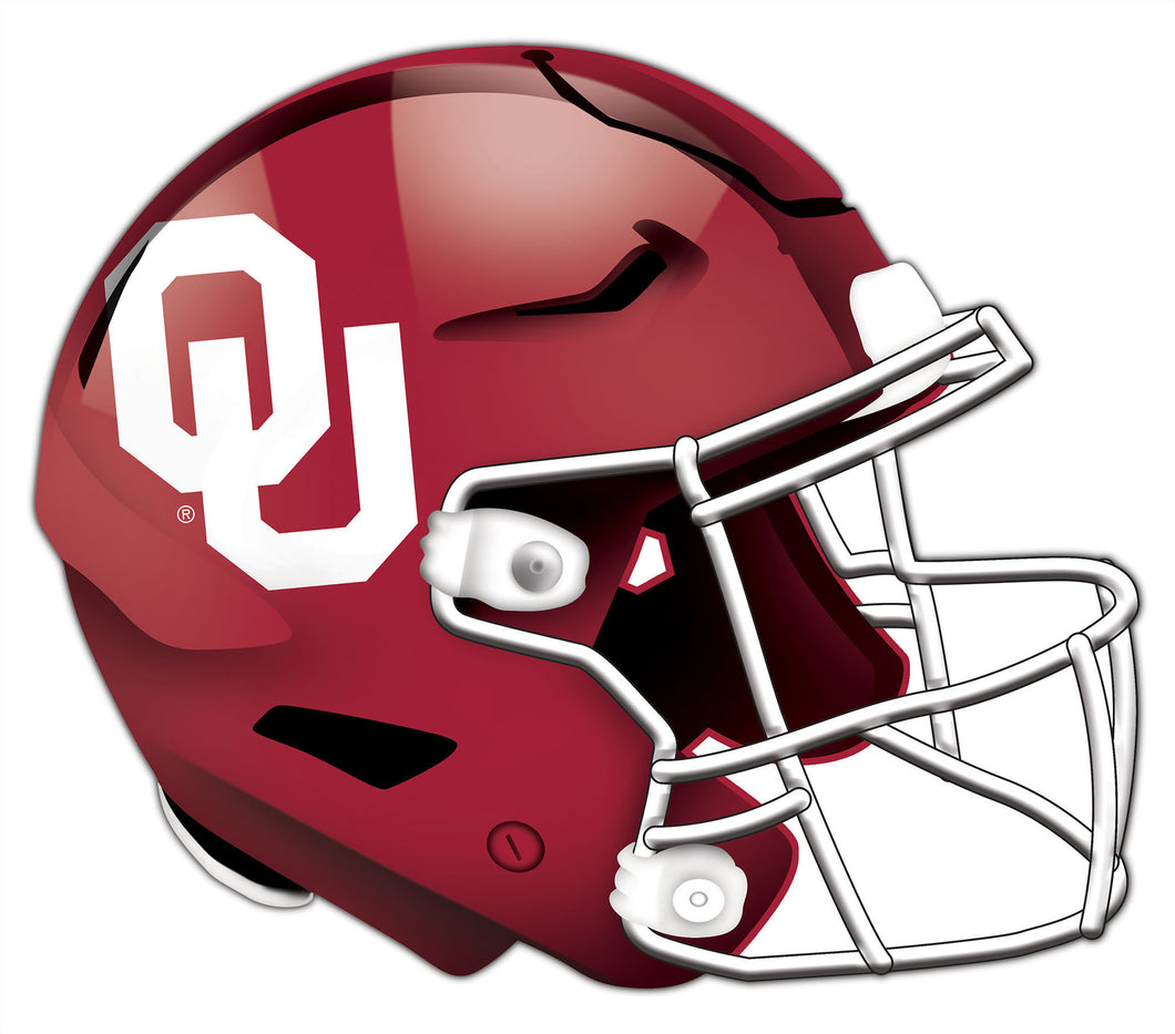 University of Oklahoma Authentic Helmet Cutout 24