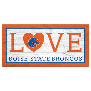 Boise State Love 6x12 Sign
