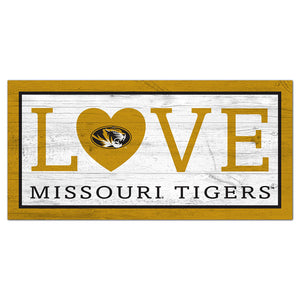 University of Missouri Love 6x12 Sign