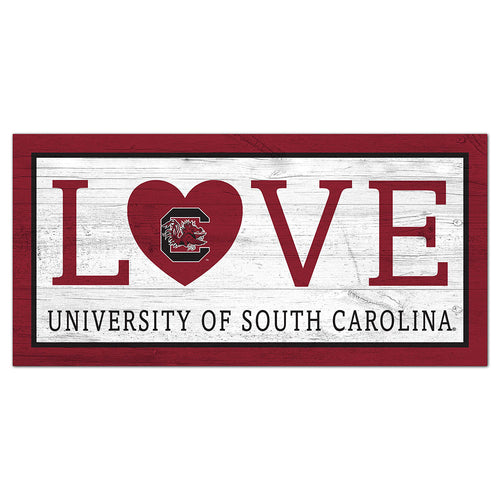 University of South Carolina Love 6x12 Sign