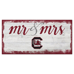 University of South Carolina Script Mr & Mrs 6x12 Sign