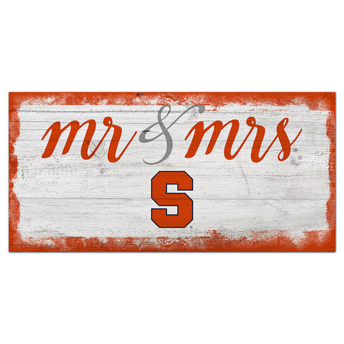 Syracuse Script Mr & Mrs 6x12 Sign