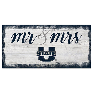 Utah State Script Mr & Mrs 6x12 Sign