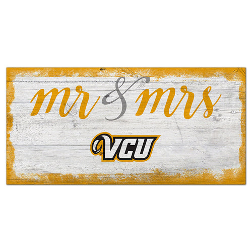 VCU Script Mr & Mrs 6x12 Sign