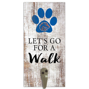 Boise State Leash Holder 6x12 Sign