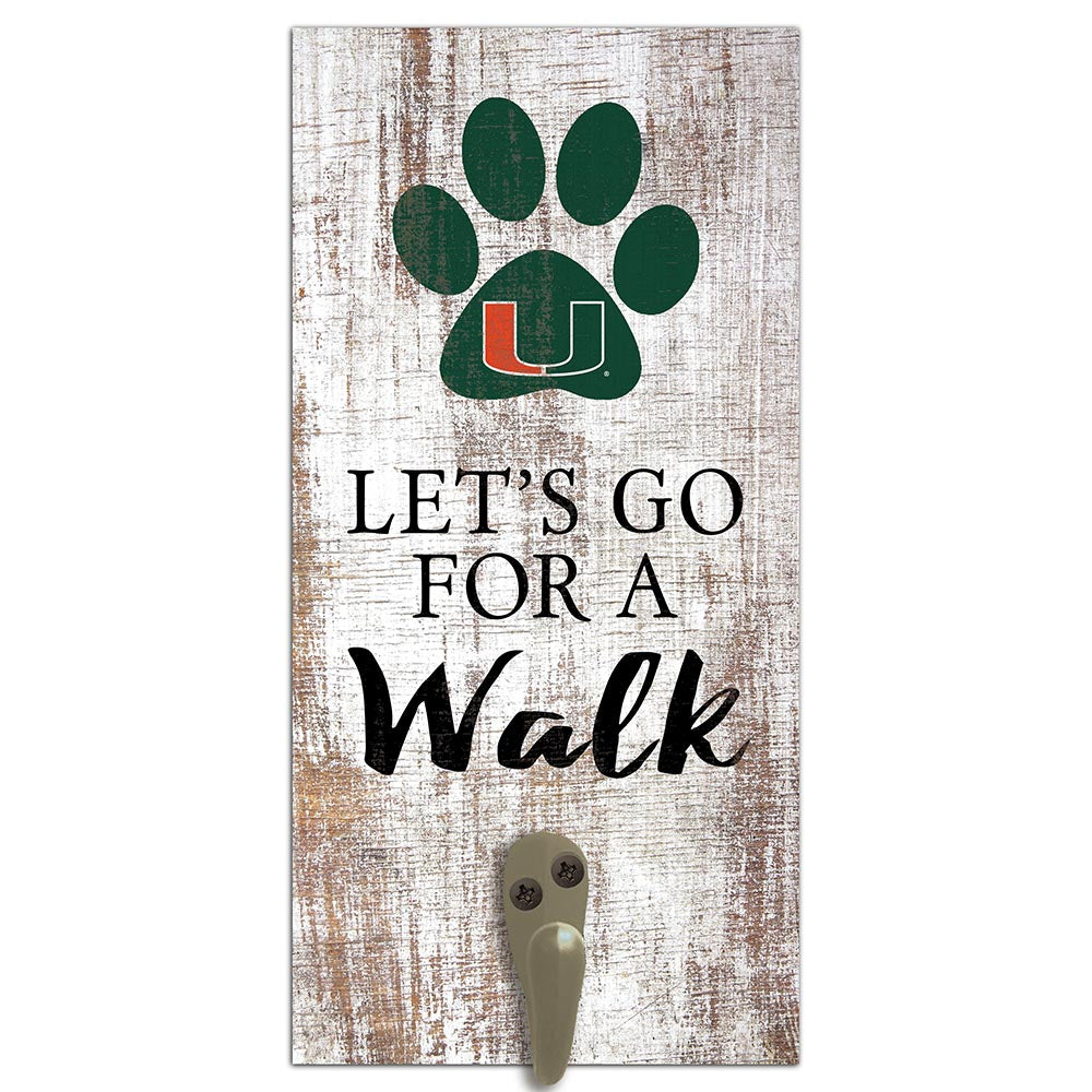 University of Miami Leash Holder 6x12 Sign