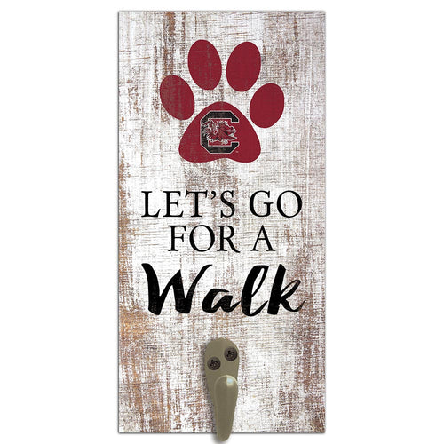 University of South Carolina Leash Holder 6x12 Sign