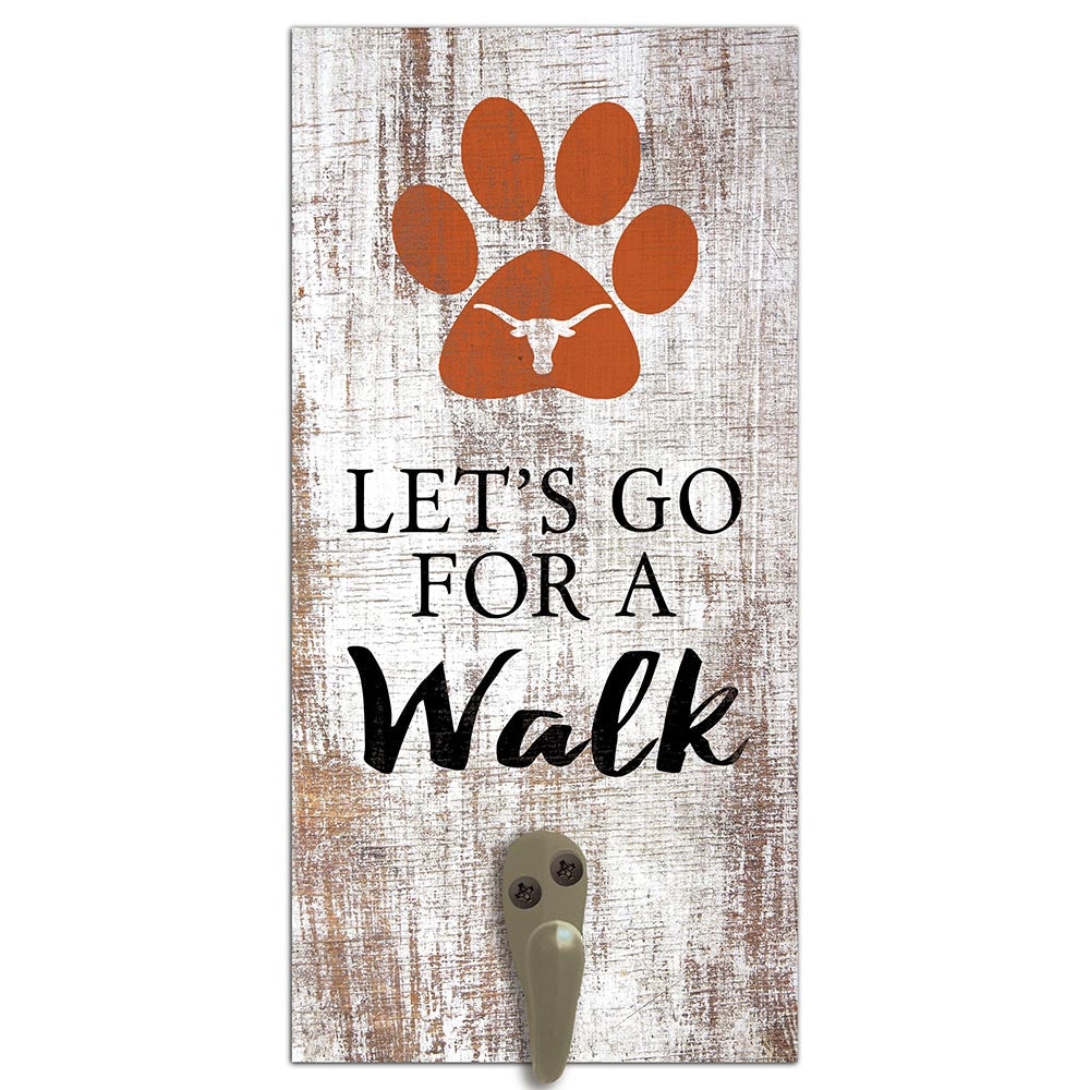 University of Texas Leash Holder 6x12 Sign