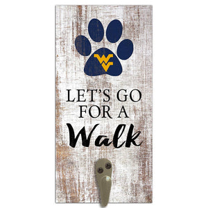 University of West Virginia Leash Holder 6x12 Sign