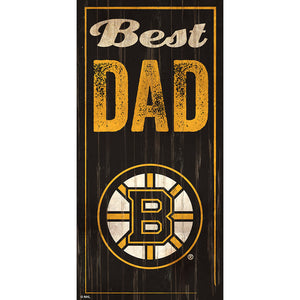 Boston Bruins Best Dad 6x12 Sign
