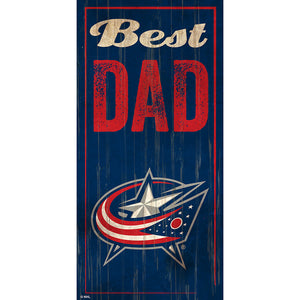 Columbus Blue Jackets Best Dad 6x12 Sign
