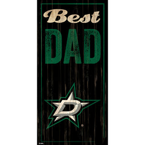 Dallas Stars Best Dad 6x12 Sign