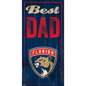 Florida Panthers Best Dad 6x12 Sign