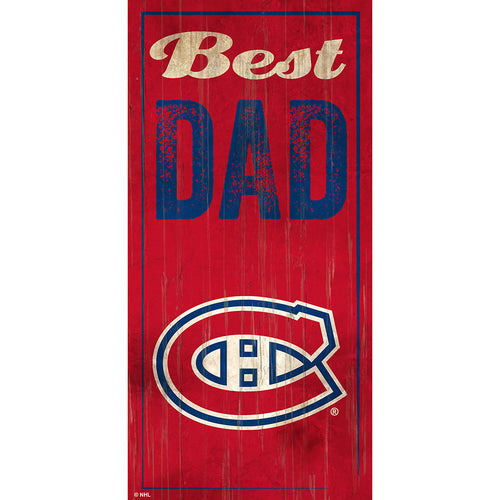 Montreal Canadiens Best Dad 6x12 Sign