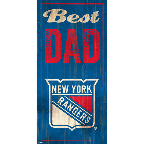 New York Rangers Best Dad 6x12 Sign