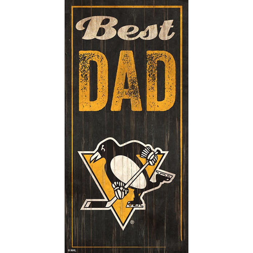 Pittsburgh Penguins Best Dad 6x12 Sign