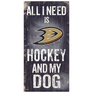 Anaheim Ducks Hockey and My Dog Sign
