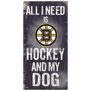 Boston Bruins Hockey and My Dog Sign