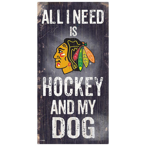 Chicago Blackhawks Hockey and My Dog Sign