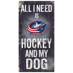 Columbus Blue Jackets Hockey and My Dog Sign