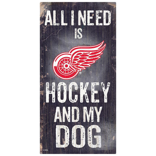 Detroit Red Wings Hockey and My Dog Sign