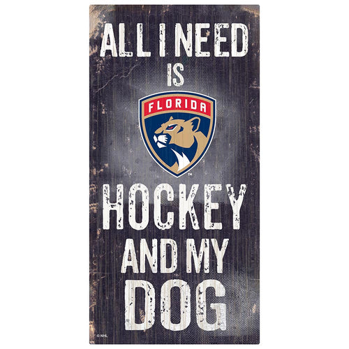 Florida Panthers Hockey and My Dog Sign