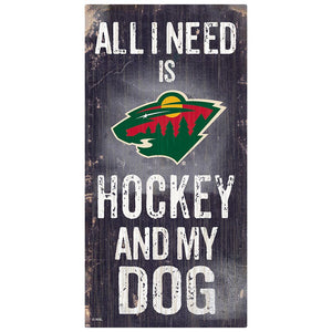 Minnesota Wild Hockey and My Dog Sign