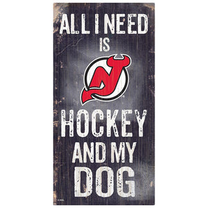 New Jersey Devils Hockey and My Dog Sign