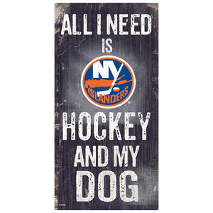 New York Islanders Hockey and My Dog Sign