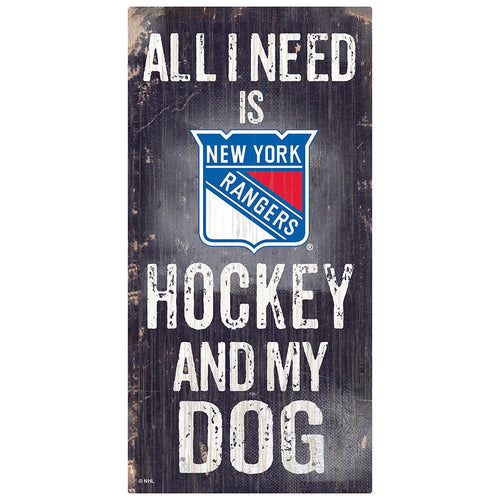New York Rangers Hockey and My Dog Sign
