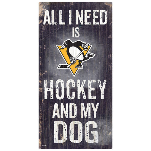 Pittsburgh Penguins Hockey and My Dog Sign